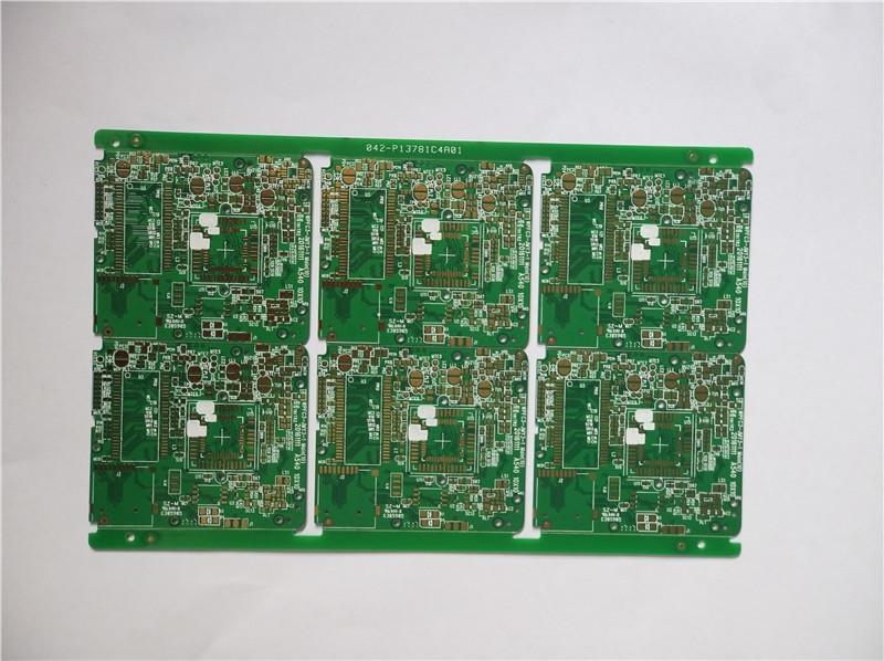 四层绿油沉金相机板